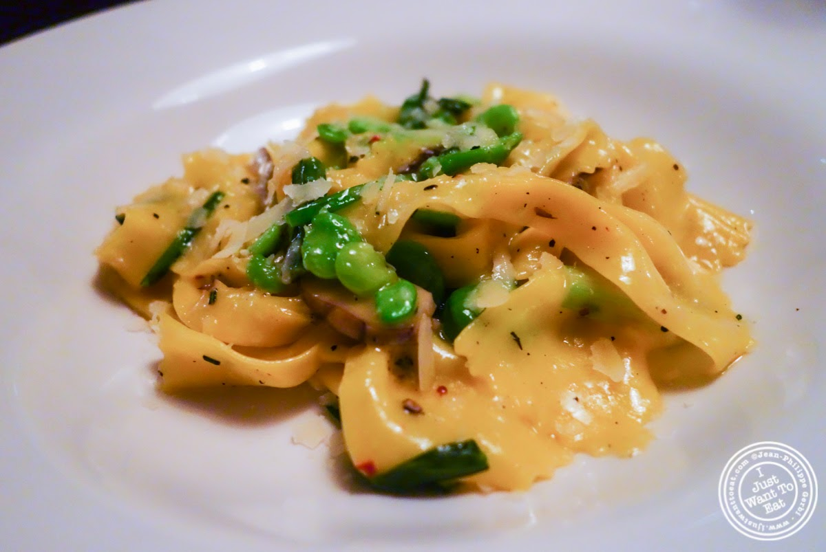 image of homemade parpadelle at Left Bank in the West Village, NYC, New York