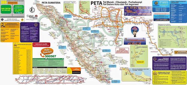 peta jalur mudik sumatera 2013