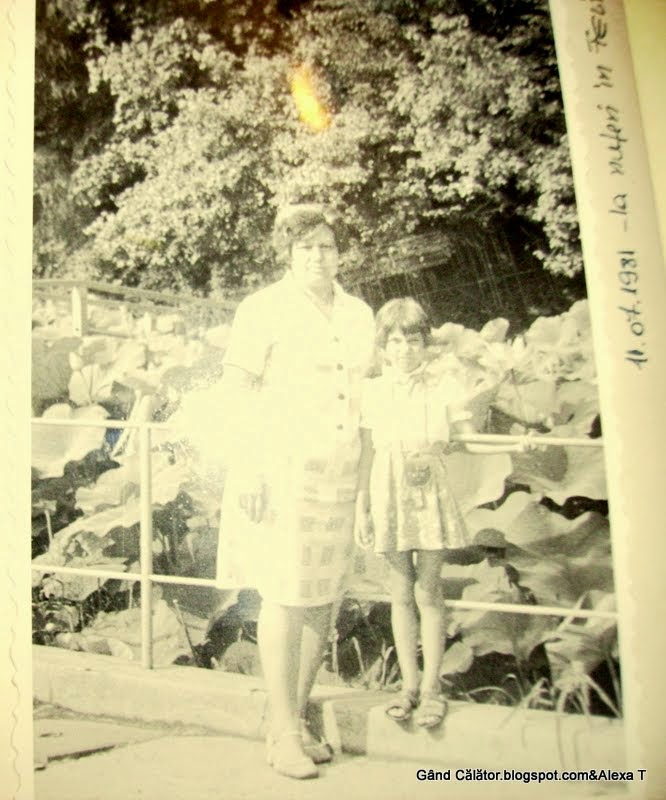 With my mom at the lakes of water lilies in 1981 at Felix.