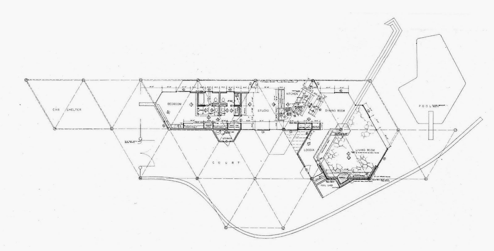 John Lautner Chemosphere House Floor Plan