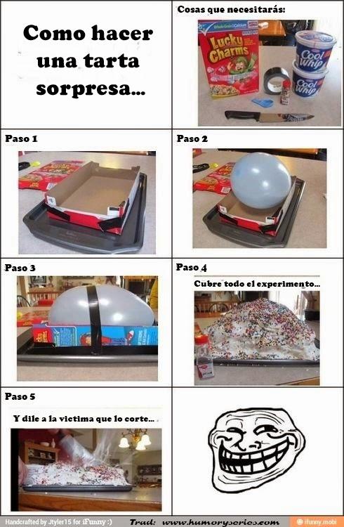 5 pasos para hacer una tarta sorpresa