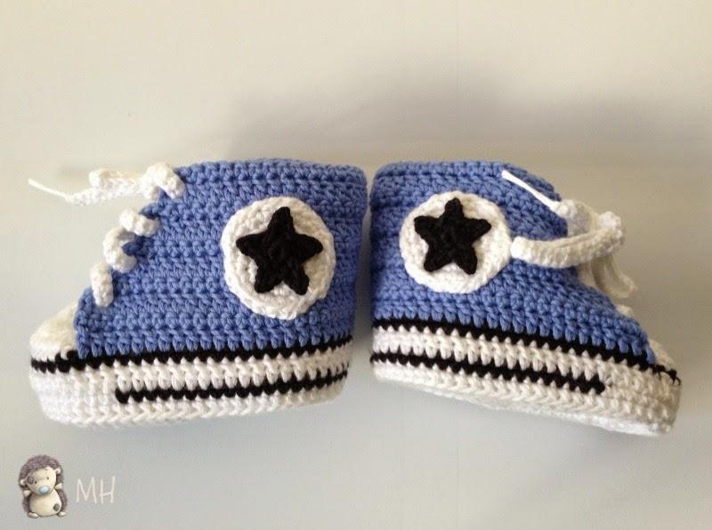 zapatillas converse bebe ganchillo