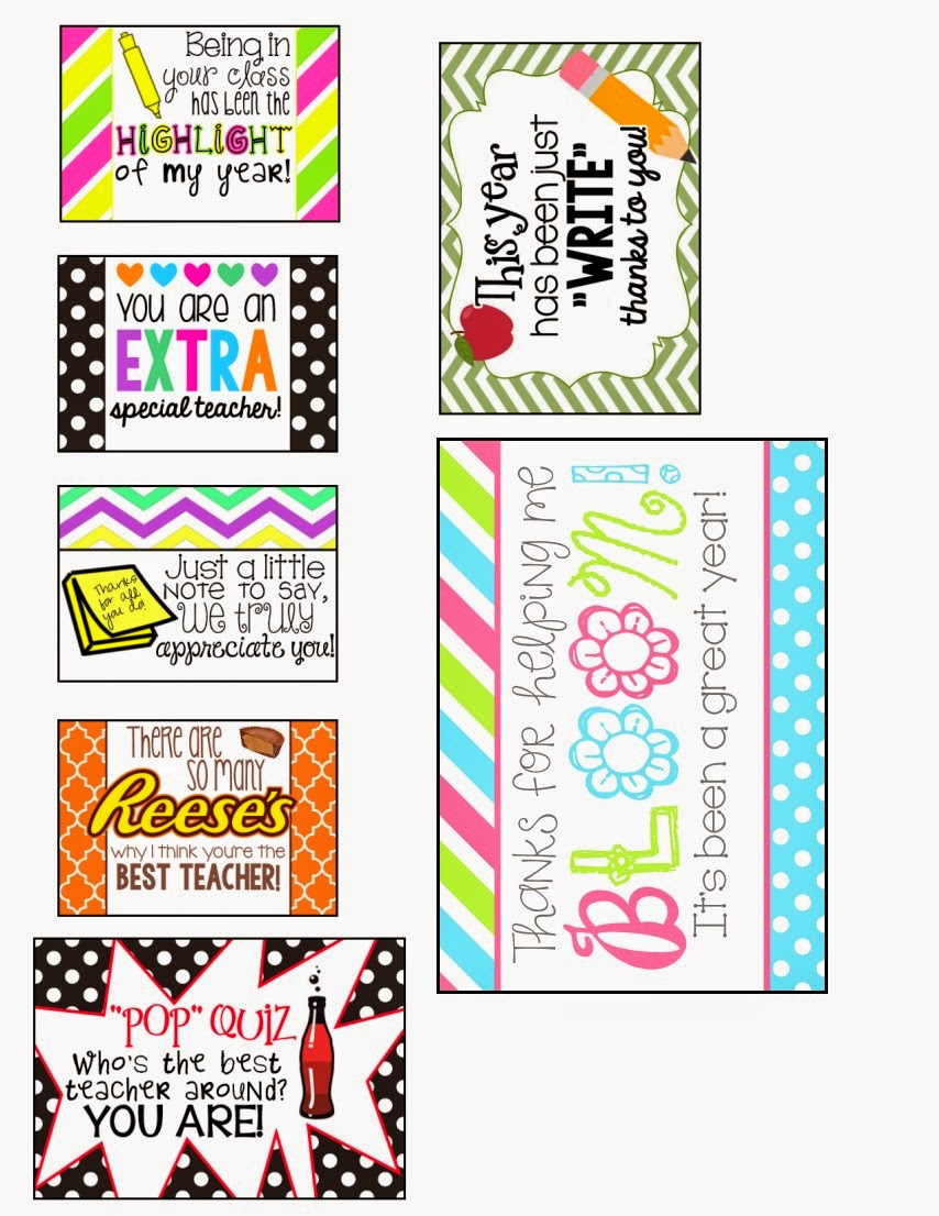 Free teacher appreciation gift tags cards mysunwillshine com