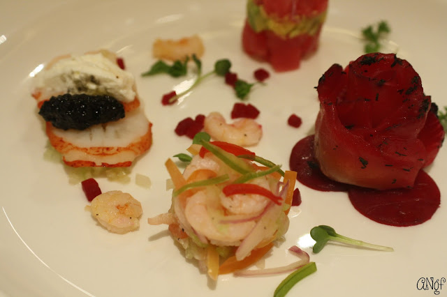 Starter of Seafood Assiette Platter | Anyonita-nibbles.co.uk