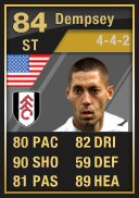 Clint Dempsey (IF2) 84 - FIFA 12 Ultimate Team Card