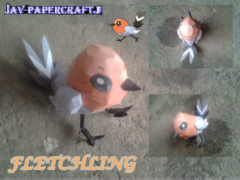 Pokemon Fletchling Papercraft
