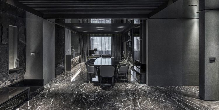 all black apartment in taiwan by atelierii home img