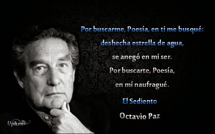 El sediento: Octavio Paz - Poemas - Imagen con fragmento y poema completo