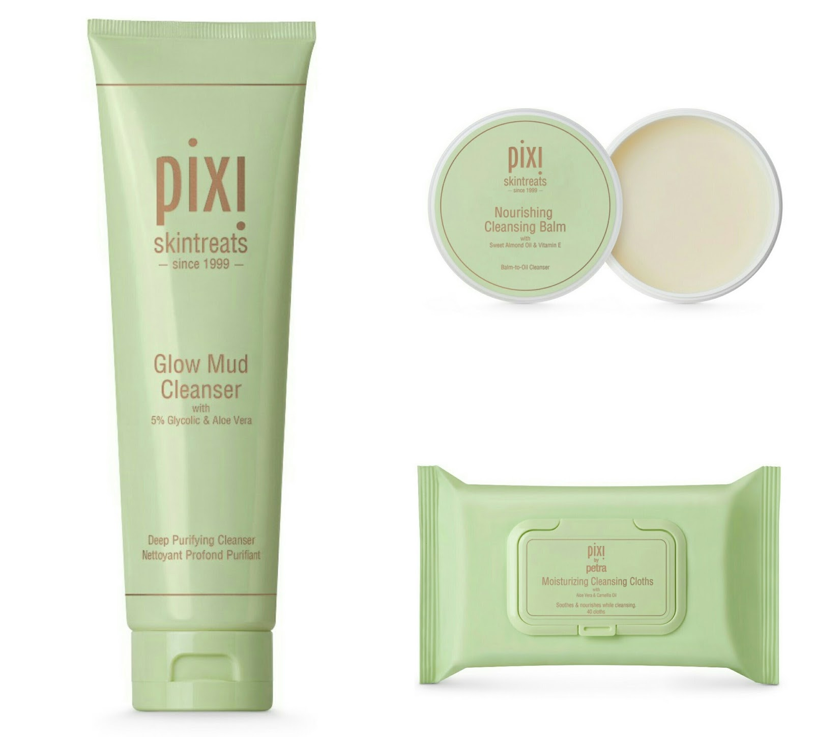 pixi glow mud cleanser cleansing balm