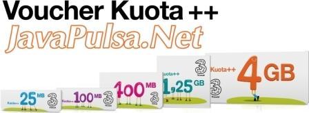 Paket Kuota Data Internet Tri Java Pulsa Online Termurah Terpercaya 2015
