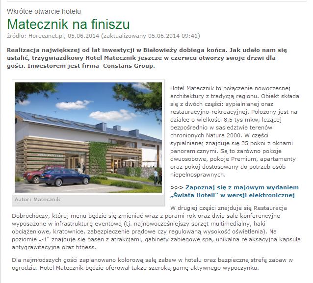 Hotel Matecznik w Białowieży