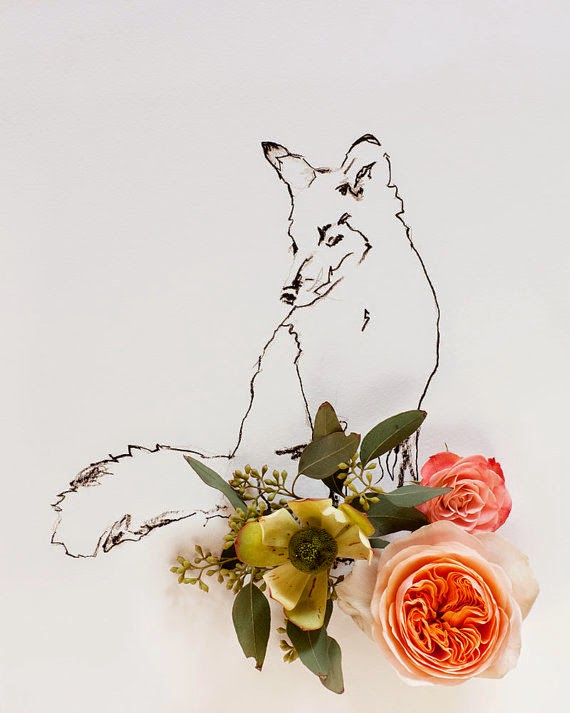 fox and flowers photography by kari herer