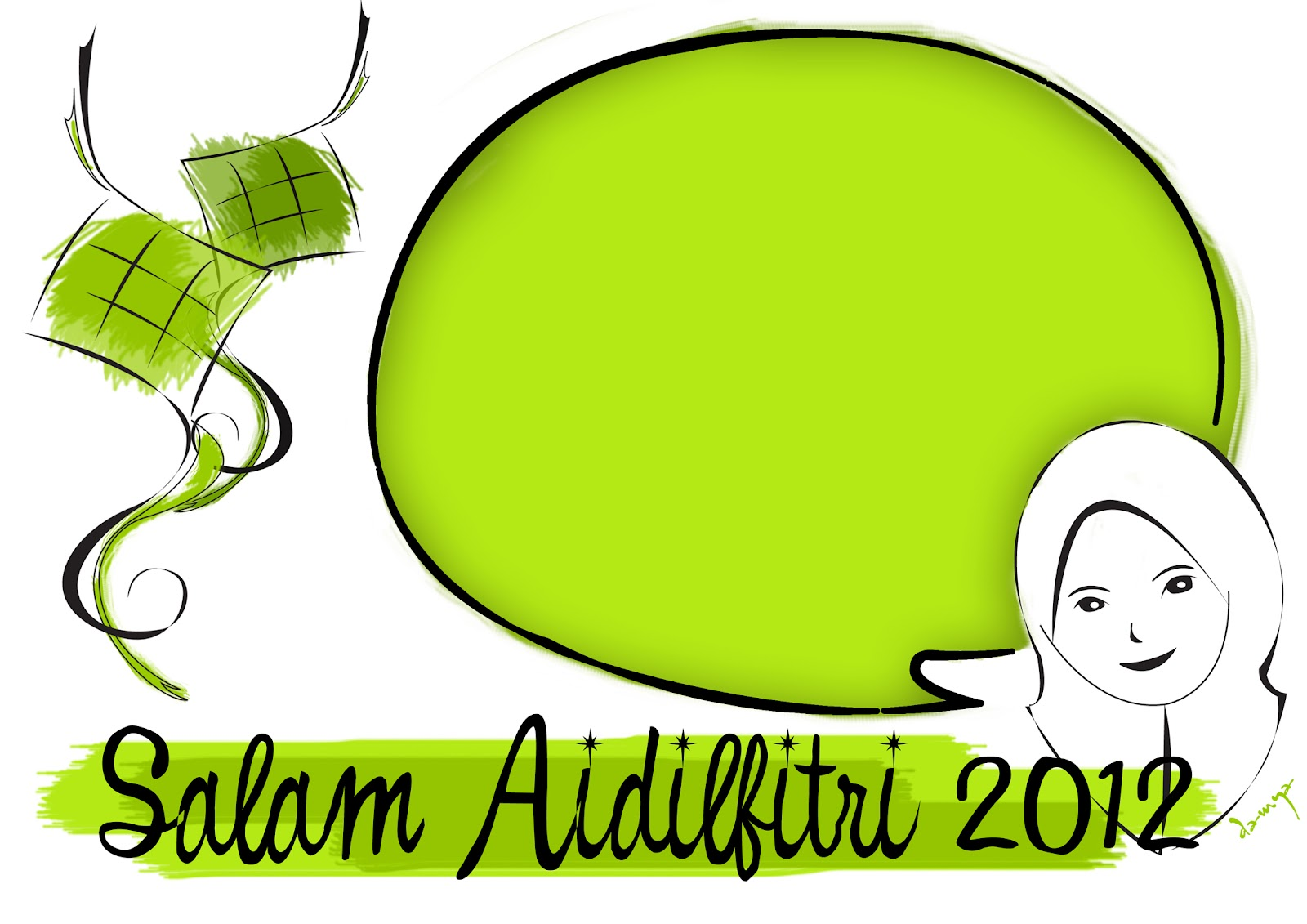 Design Templates : Kad Raya Aidilfitri 2012 (Kartun)