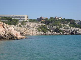 Tarragona Rocky Beach Blue sea photo - Spain