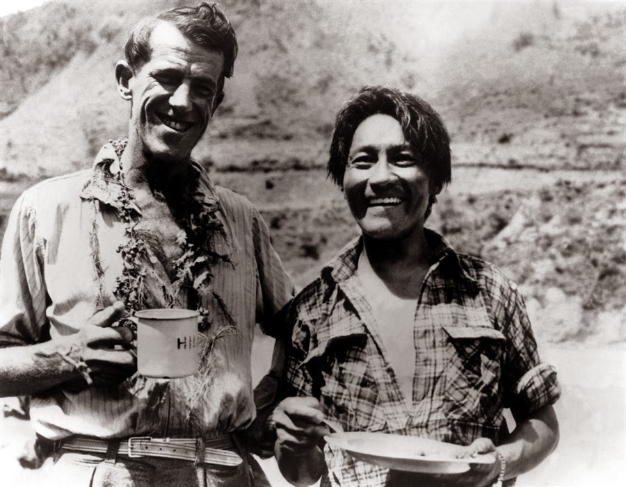 Edmund Hillary and Tenzing Norgay sherpa