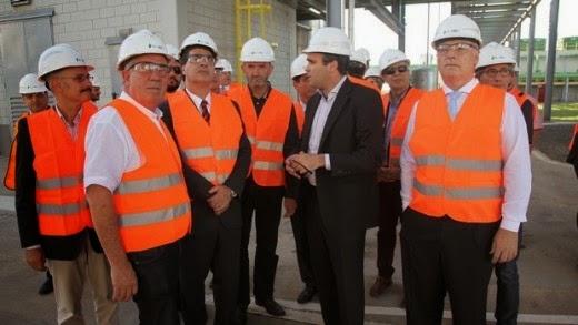 Accastello y Capitanich recorrieron planta de bioetanol en Villa María