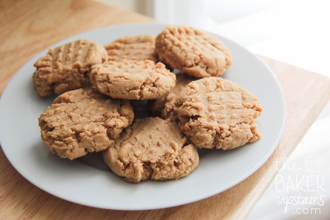 the baker upstairs: vegan peanut butter cookies