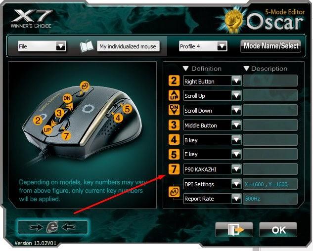 cara setting mouse macro x7 xl-747h