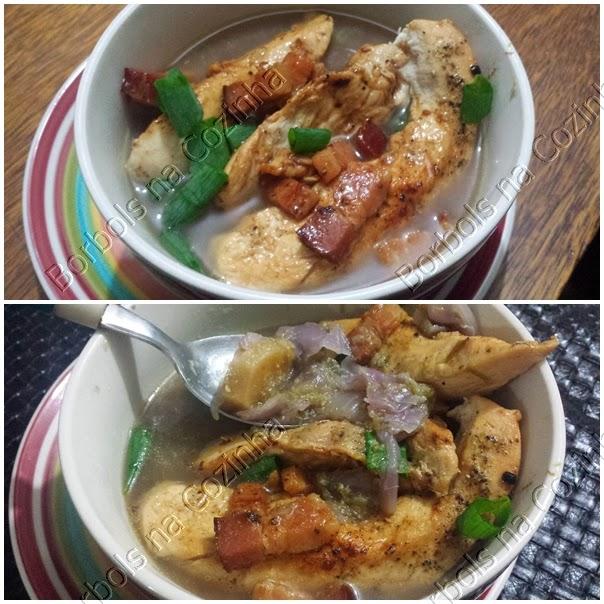 Sopa de aspargos com frango e repolho roxo low carb, benefícios dos alimentos roxos