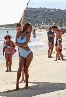 Alessandra Ambrosio Blue Swimsuit Saint Tropez