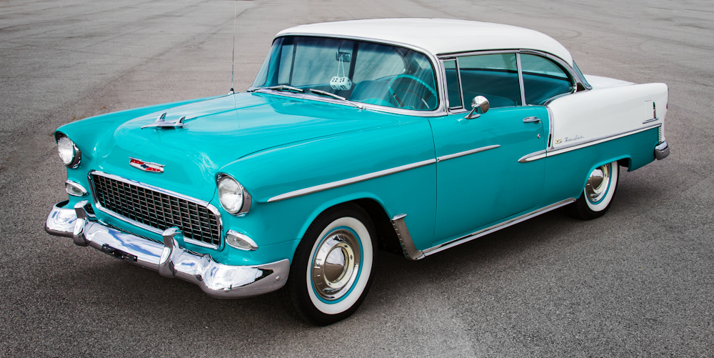 Classic American Cars Chevrolet Bel Air Second Generation 1955 1957