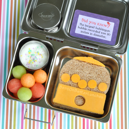 Gumball Bento Lunch in PlanetBox Shuttle by BentOnBetterLunches