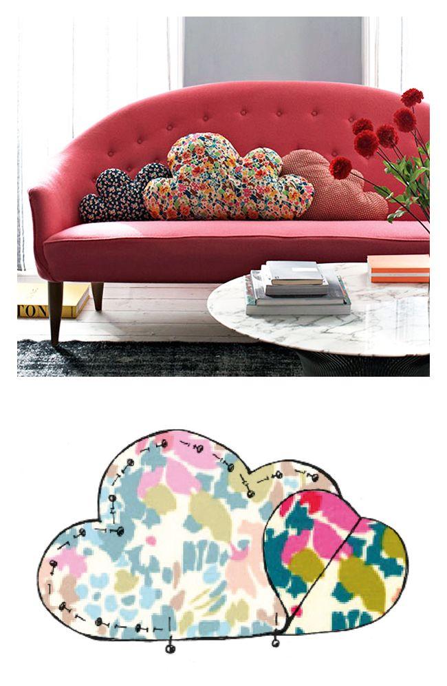 Idee fai da te creare cuscini per il divano a costo zero donneinpink magazine - Cuscini da divano ...