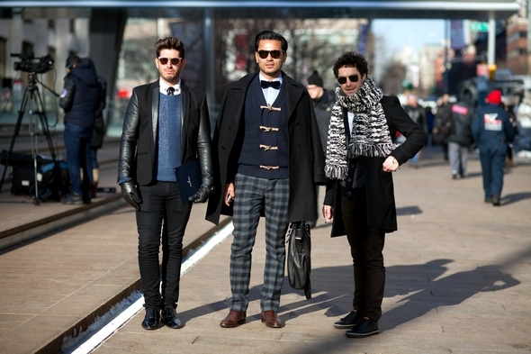 mens street style new york city winter fashion preppy mens style sunglasses plade pants bowties and boots the stylepreneur