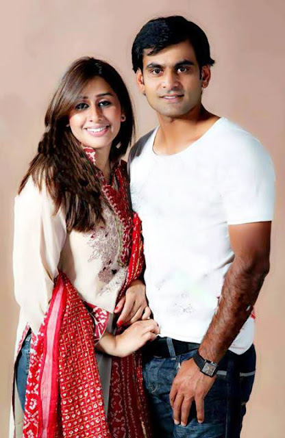 Pakistani Cricketer Muhammad Hafeez With His Cute Wife