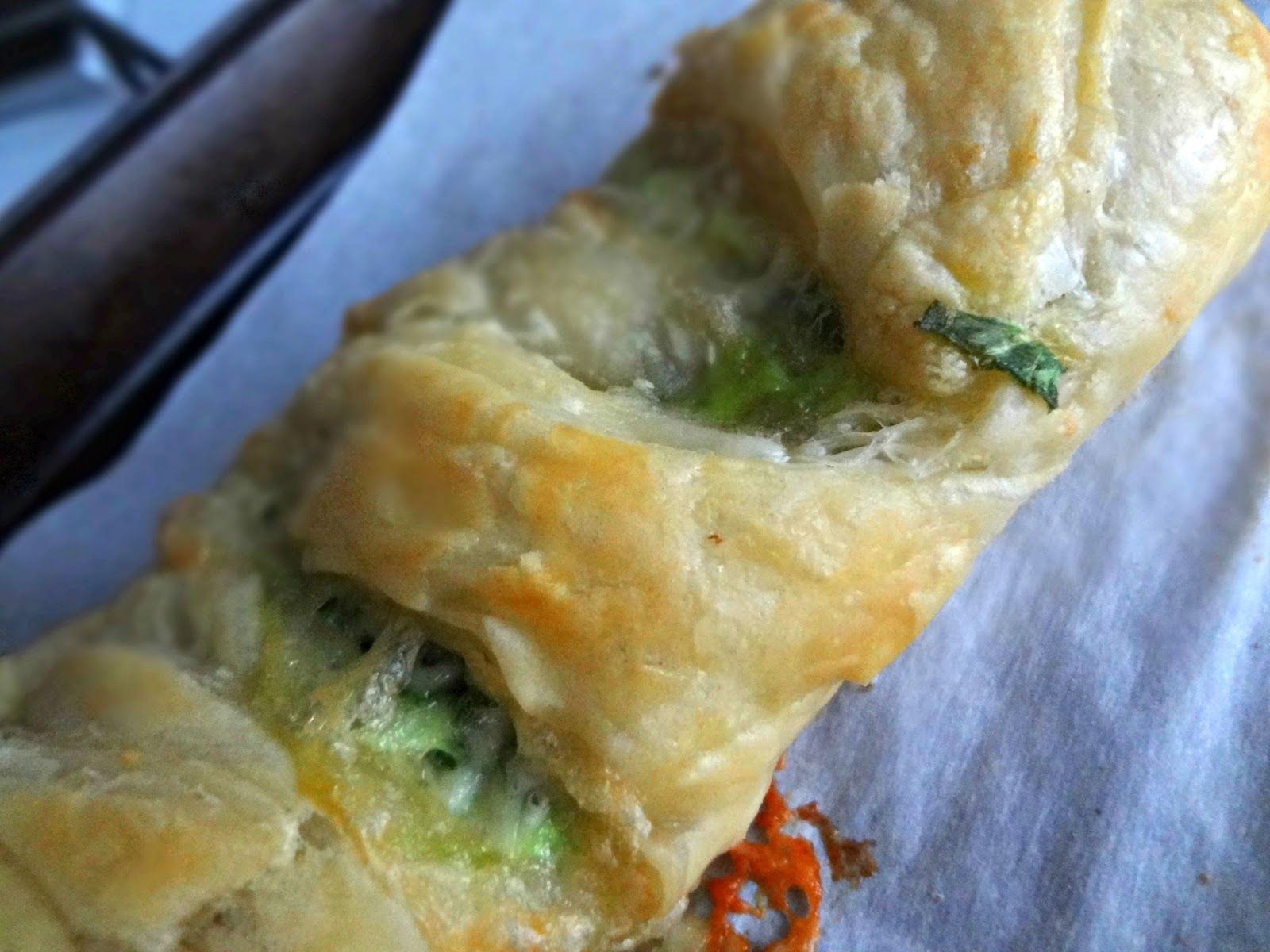 So...yeah, like... Meat Spinach Cheese Pastry