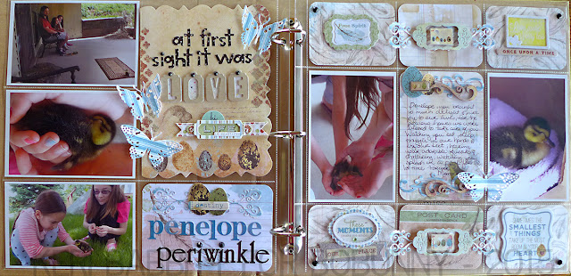 At First Sight Misc Me 12x12 by Keri Babbitt using BoBunny Elegant Wood Shapes and Garden Journal Collection