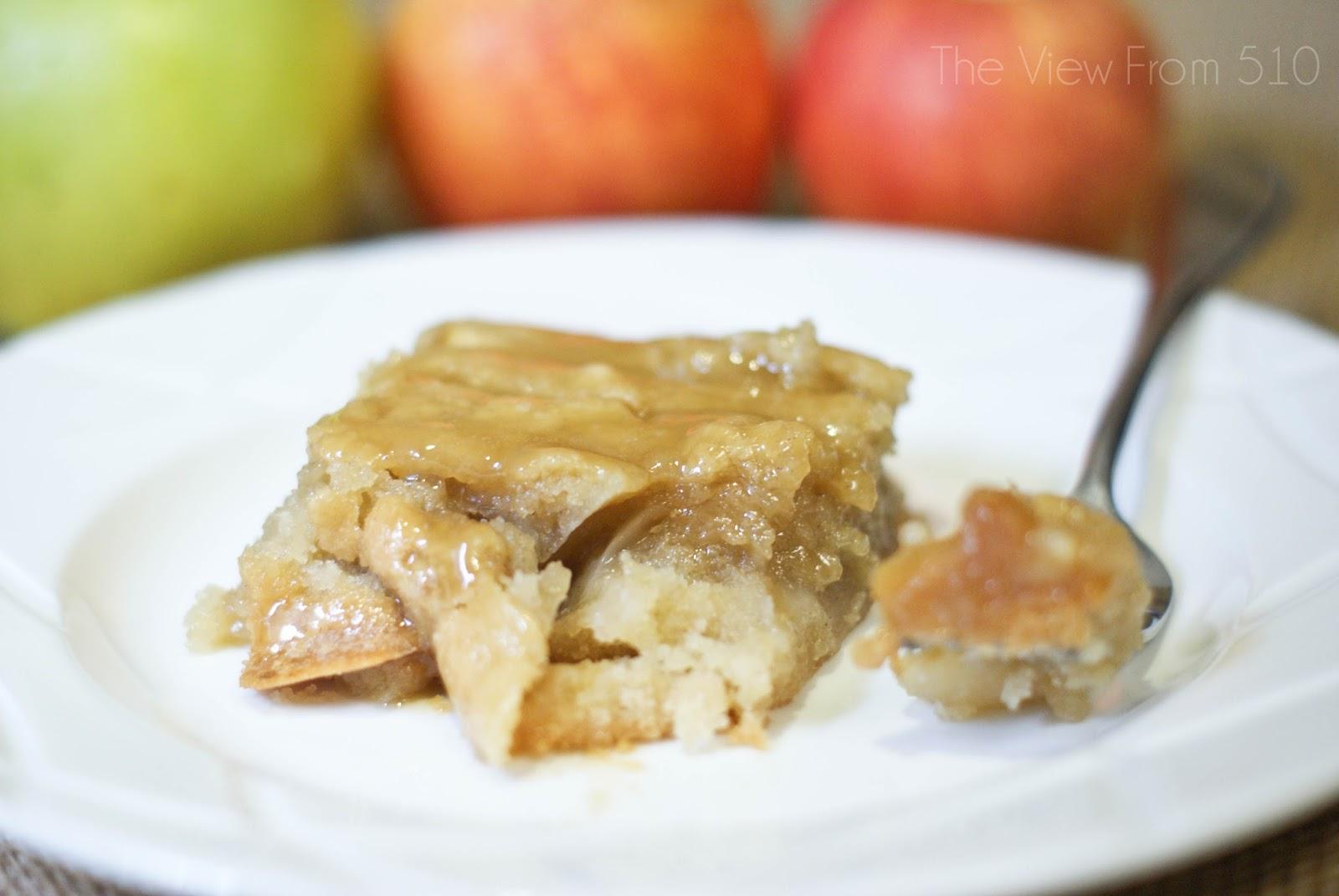 Apple Cake with Caramel Glaze Recipe - Wholehearted Finishing