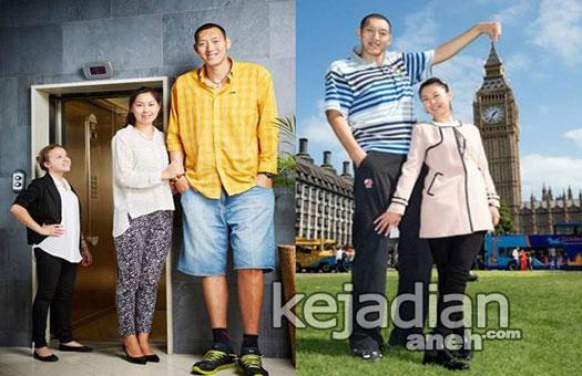Uniknya Pasangan Suami Istri Tertinggi Di Dunia