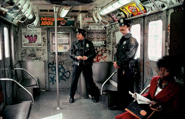 Cops in the Train, the Bronx