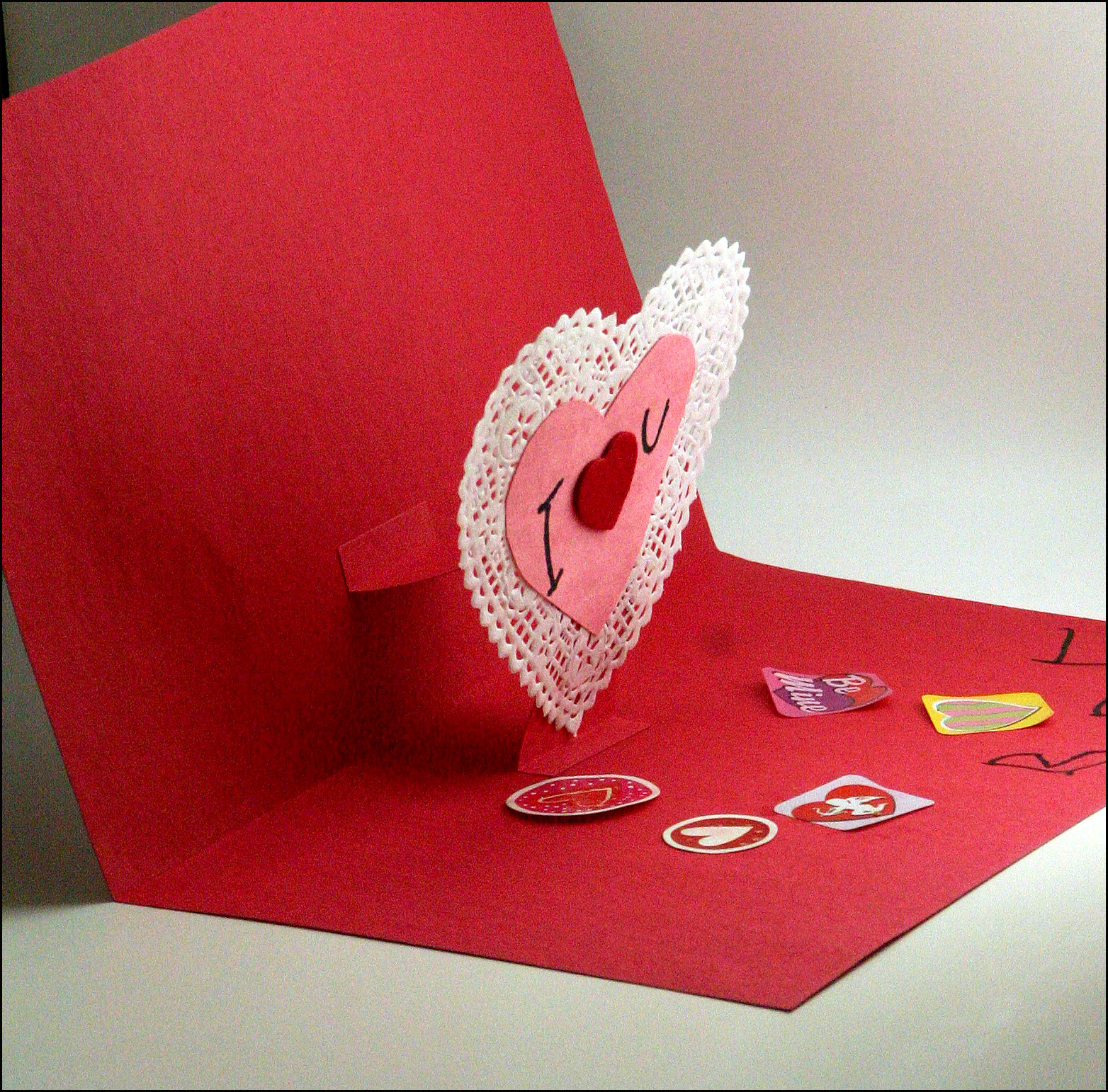 Mamas Little Muse Easy Pop Up Valentines Day Card Kids Craft