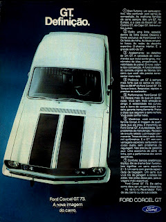 propaganda Ford Corcel GT - 1973. 1973. brazilian advertising cars in the 70s; os anos 70; história da década de 70; Brazil in the 70s; propaganda carros anos 70; Oswaldo Hernandez;