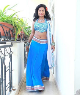 Vrushali in Spicy Blue Lehenga Choli Stunning Beauty