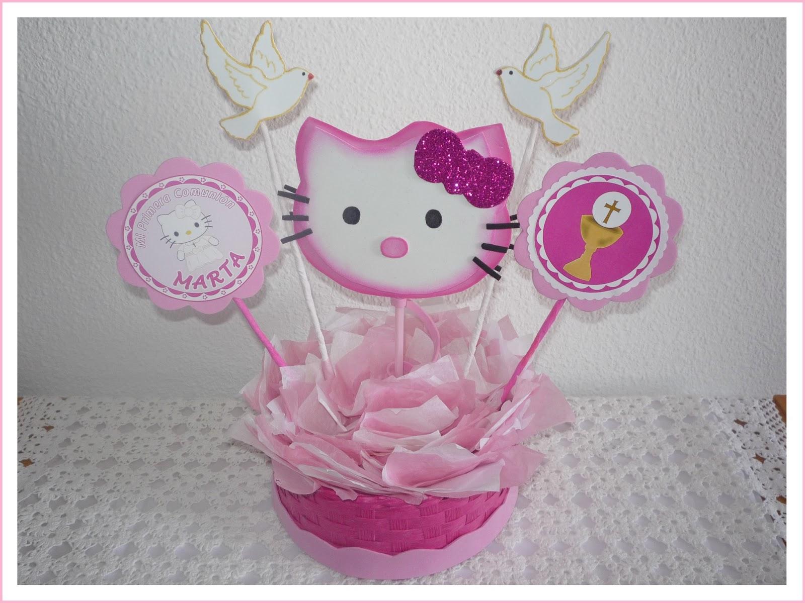 Centro de mesa de Hello Kitty en goma eva - Imagui