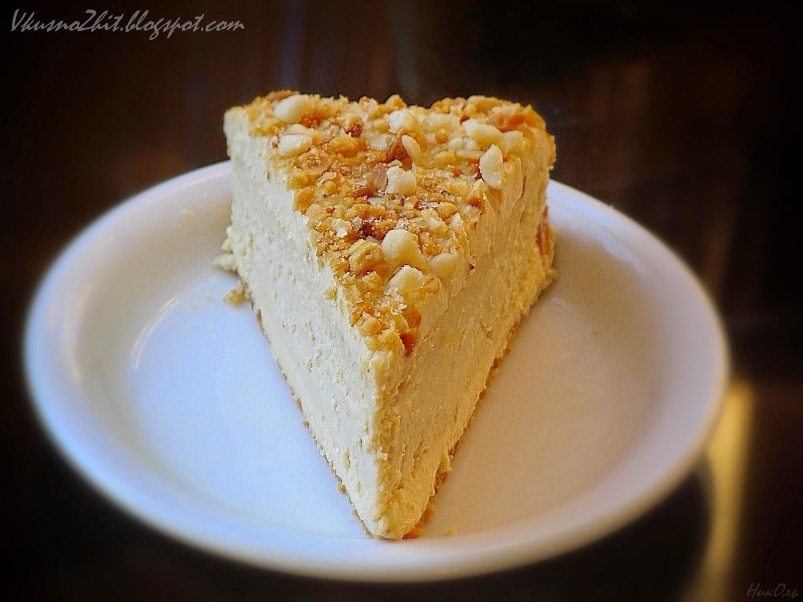 торт с кремом из арахисовой пасты рецепт с фото