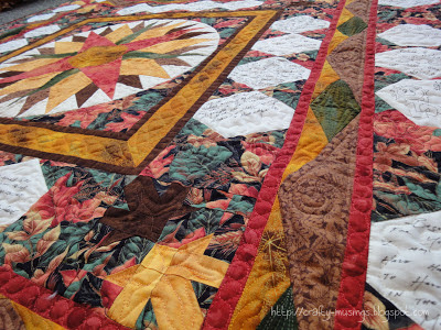 Robin & Keith's Wedding Quilt, quilting detail