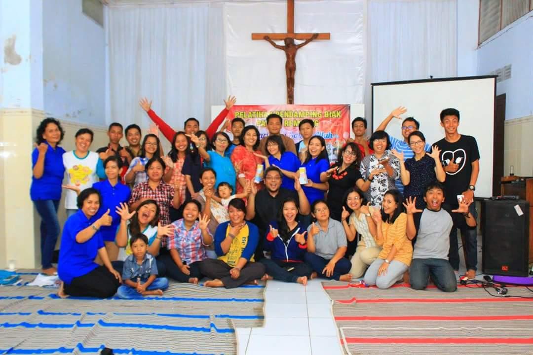 Bersama para pendamping BIAK Paroki Rembang 27-28 Agustus 2016