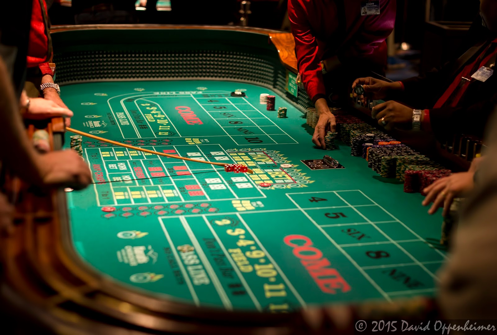 Craps table at Harrah's Cherokee Casino