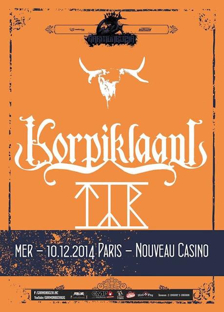 Korpiklaani / Týr @ Nouveau Casino, Paris 10/12/2014