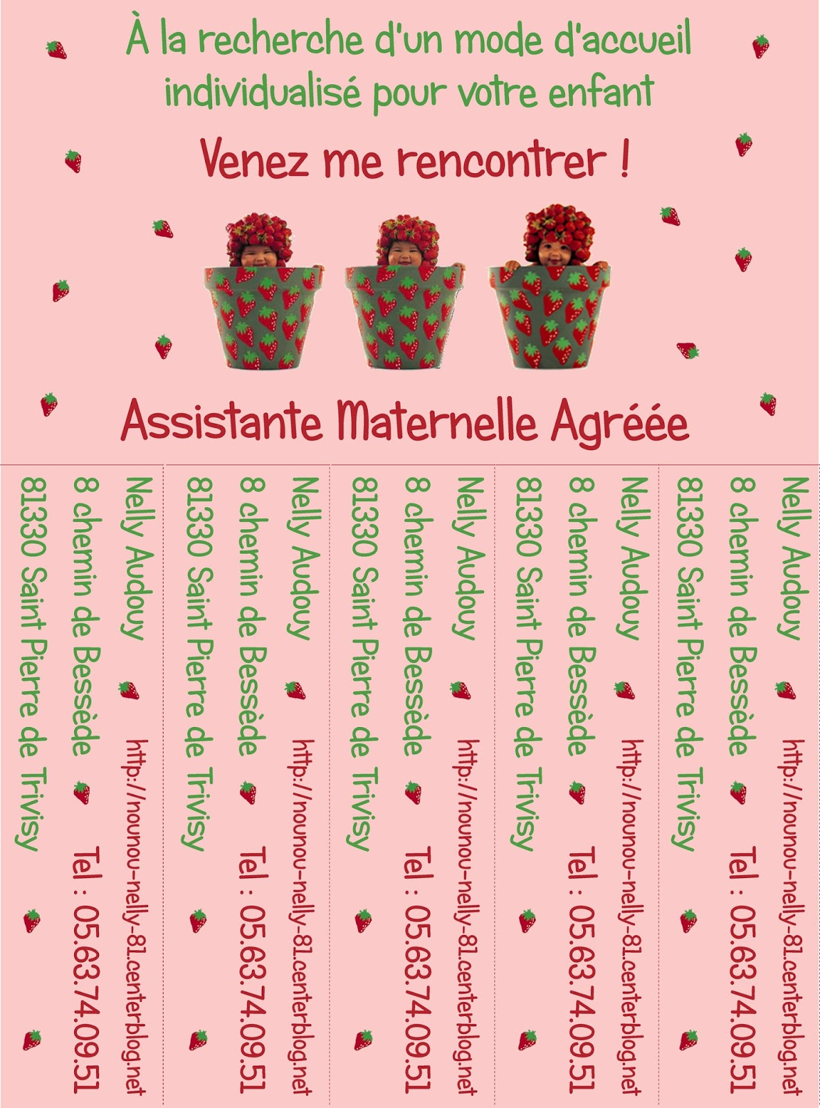 Cartes Visite Carrees Personnalisable Assistante Maternelle Coeur DAssMat Operation