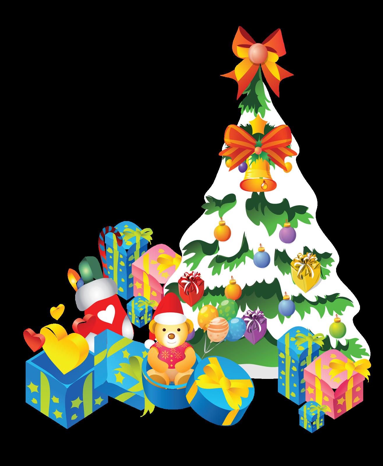Arboles de navidad vectores - Arbol de navidad con regalos ...