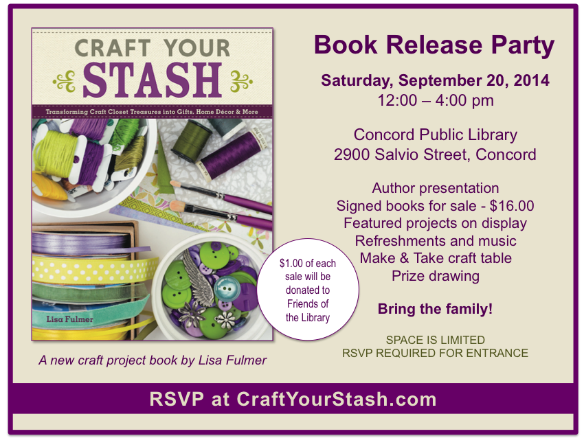 craft your stash book release party