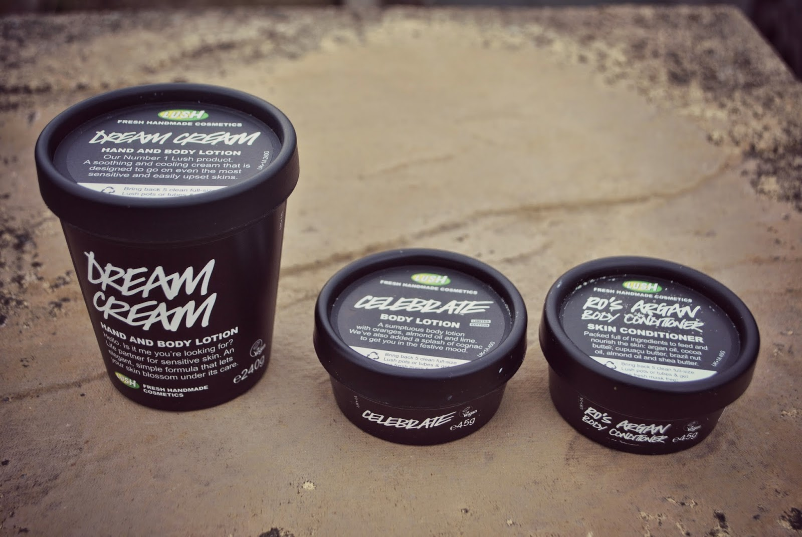 Lush Dream Cream Celebrate Ro's Argan Body Conditioner