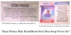 Klarivikasi Soal Stop Press Asenk Lee Saragih di Harian Sorot Jambi