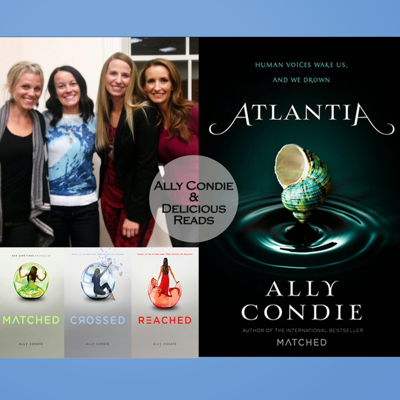 Ally Condie and three members of Delicious Reads book club