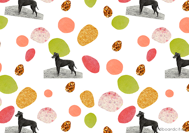 'not so mini dogs' - a collage pattern by laura redburn